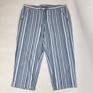 COLUMBIA Blue Striped Cotton Pants XL